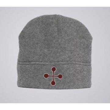 Red Cross Pommele Fleece Beanie